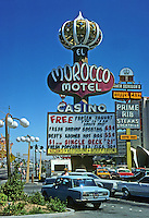 Las Vegas: Morocco Motel sign. Photo '79.