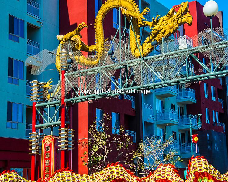 Chinese New Year Dragon stock image