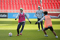 Toronto, ON, Canada - Friday Dec. 09, 2016: Dylan Remick during training prior to MLS Cup at BMO Field.