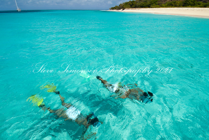 Snorkelers at Buck Island. St Croix.US Virgin Islands