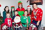Having fun at the Castlemaine Turkey Gobbler on Sunday were front row l-r: Eoin, Darragh and Elaine O'Sullivan. Back row: Ciara Deane, Caitlin Horgan, Danielle Lyne, Severine Masson and Eileeen Courtney