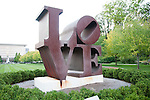 USA, Indiana, Indianapolis, Robert Indiana Love sculpture at Indiana Museum of Art.