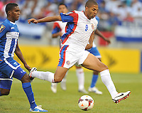 Alvaro Saborio (9) of Costa Rica.  Honduras defeated Costa Rica 1-0 at the quaterfinal game of the Concacaf Gold Cup, M&T Stadium, Sunday July 21 , 2013.