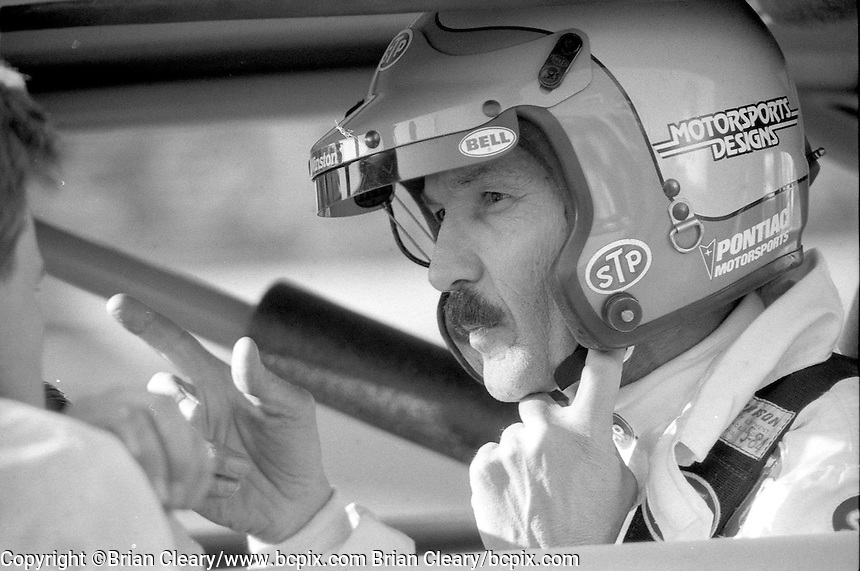 Richard Petty STP Pontiac Daytona 500 at Daytona International Speedway in Daytona Beach, FL in February 1985. (Photo by Brian Cleary/www.bcpix.com) Daytona 500, Daytona International Speedway, Daytona Beach, FL, February 1985. (Photo by Brian Cleary/www.bcpix.com)