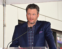 Blake Shelton at the Hollywood Walk of Fame Star Ceremony honoring singer Adam Levine. Los Angeles, USA 10 February  2017<br /> Picture: Paul Smith/Featureflash/SilverHub 0208 004 5359 sales@silverhubmedia.com