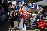 A vendor sells lingerie and other adult items at the Testicle Festival at the Rock Creek Lodge in Clinton, MT.  The Rock Creek Lodge in Clinton, MT, has hosted the annual Testicle Festival since the early 1980s.  The four day festival and party revolves around the consumption of so-called Rocky Mountain Oysters, which are deep-fried bull testicles.