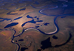 Meandering rivers, Arctic National Wildlife Range, Alaska, USA