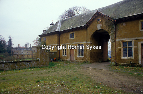 Great Tew Jacobean Manor House and stabling. Oxfordshire 1980s