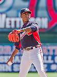 21 March 2015: Atlanta Braves infielder Ozhaino Albies in action during a Split Squad Spring Training game against the Washington Nationals at Champion Stadium at the ESPN Wide World of Sports Complex in Kissimmee, Florida. The Braves defeated the Nationals 5-2 in Grapefruit League play. Mandatory Credit: Ed Wolfstein Photo *** RAW (NEF) Image File Available ***