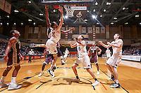 SAN ANTONIO, TX - NOVEMBER 25, 2016: The University of Texas at San Antonio Roadrunners defeat the Texas State University Bobcats 63-48 at the UTSA Convocation Center. (Photo by Jeff Huehn)