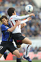 (L to R) Akira Kaji (Gamba), Yoshito Okubo (Vissel), MARCH 10, 2012 - Football / Soccer : 2012 J.LEAGUE Division 1, 1st sec match between Gamba Osaka 2-3 Vissel Kobe at Expo'70 Commemorative Stadium, Osaka, Japan. (Photo by Akihiro Sugimoto/AFLO SPORT) [1080]