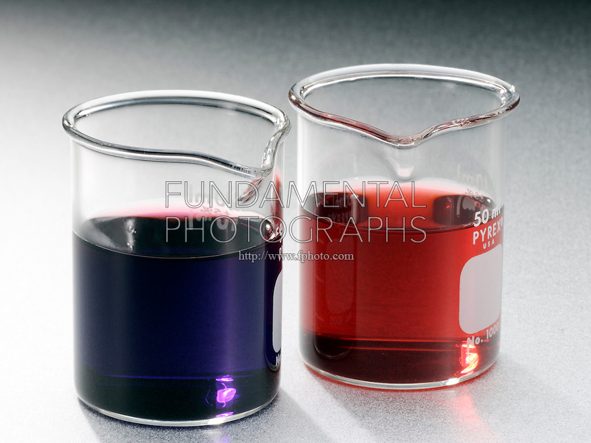 COBALT CHLORIDE: CHEMICAL EQUILIBRIUM<br /> Solutions of Blue CoCl4 &amp; Pink Co(H2O)6<br /> If chloride concentration is low, the equilibrium lies to the right and the solution is pink. With excess chloride, the equilibrium tends to the left- the solution tends to be blue. 1:1 0.5M CoCl2 &amp; 12.5M HCl to cause color shift.