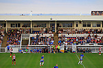 Hartlepool United 0 Sunderland 3, 20/07/2016. Victoria Park, Pre Season Friendly. ships on the way to and from The Tees behind The Cyril Knowles Stand. Photo by Paul Thompson.