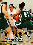 5 December 2009: University of Vermont Catamount guard/forward Kendra Seto, a Freshman from Oshawa, Ontario, in action against the Manhattan College Jaspers at Patrick Gymnasium in Burlington, Vermont. The Catamounts defeated the visiting Jaspers 78-59 to mark the Lady Cats' second home win of the season. Mandatory Credit: Ed Wolfstein Photo