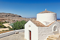 A chapel in the village of Lindos in Rhodes, Greece.
