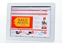 Apple Ipad showing Sainsbury's Website  - Jan 2013.