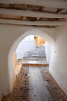 Narrow fortification passages of Ano Syros,   Syros Island [ ????? ] , Greek Cyclades Islands