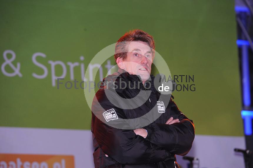 SCHAATSEN: AMSTERDAM: Olympisch Stadion, 28-02-2014, KPN NK Sprint/Allround, Coolste Baan van Nederland, initiatiefnemer Patrick Wouters van den Oudenweijer (directeur House of Sports), ©foto Martin de Jong