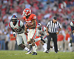 Georgia cornerback Malcolm Mitchell (26) vs. Ole Miss defensive end E.J. Epperson (33) at Sanford Stadium in Athens, Ga. on Saturday, November 3, 2012.