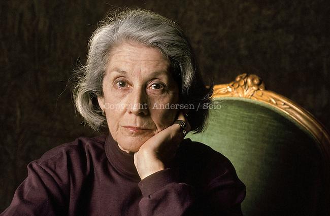 Nadine Gordimer, South African writer in 1993.
