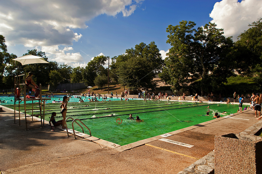 Deep Eddy Pool Offers An Olympic Size Swimming Pool For Swimming Laps In Austin Texas Usa