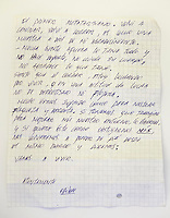 &copy; Adam Patterson / Panos Pictures..Letter from Edison Pena..Edison Pena was the 12th miner to be freed from the San Jose mine in Chile where 33 miners were trapped for 69 days. He was the first to return home from hospital.
