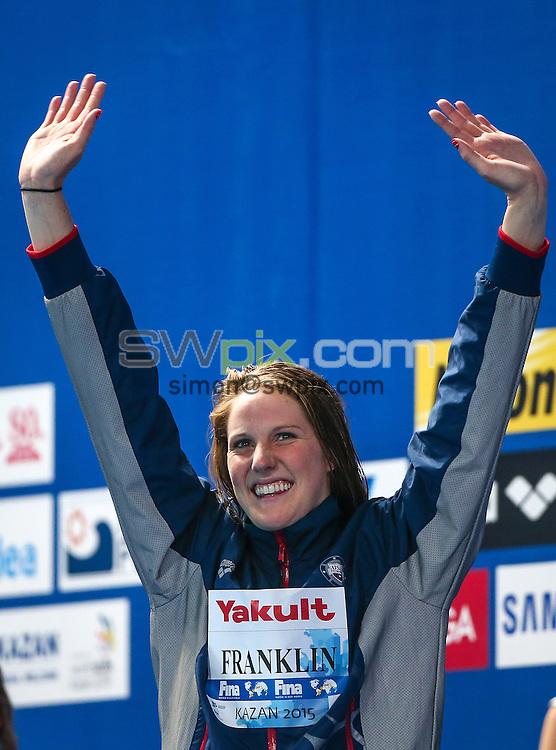 Picture by Alex Whitehead/SWpix.com - 05/08/2015 - Swimming - 16th FINA World Swimming Championships 2015 - Kazan Arena Stadium, Kazan, Russia - USA's Missy Franklin.