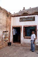 Marcos Rangel Mendoza  outside his store in the ghost town of Cerro de San Pedro, San Luis Potosi state, Mexico
