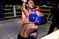 Keng is fighting at one of the most popular boxing arenas in Chiang Mai. Keng was defeated due his opponent was 5 kilos more weight than him.