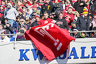 Annapolis, MD - December 3, 2016: Temple Owls fans hold a flag during game between Temple and Navy at  Navy-Marine Corps Memorial Stadium in Annapolis, MD.   (Photo by Elliott Brown/Media Images International)