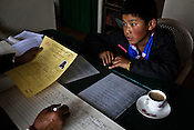 An official registers a newly arrived Tibetan refugee at the Tibetan Reception Centre in Dharamsala, Himachal Pradesh, India. Photo: Sanjit Das/Panos