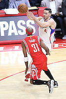 02/22/15 Los Angeles, CA: Los Angeles Clippers guard J.J. Redick #4 in action against the Houston Rockets during an NBA game played at Staples Center.