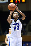 03 December 2015: Duke's Oderah Chidom. The Duke University Blue Devils hosted the University of Minnesota Golden Gophers at Cameron Indoor Stadium in Durham, North Carolina in a 2015-16 NCAA Division I Women's Basketball game. Duke won the game 84-64.