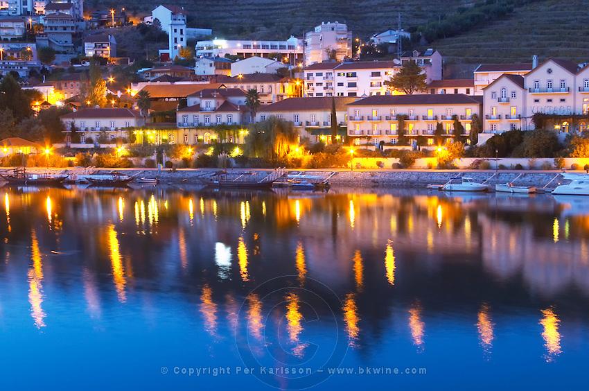 Pinhao town and douro river pinhao douro portugal