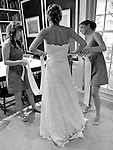 Plumed Serpent Wedding Dress, of Greenwich, Conneticut on Allison, a beautiful blonde bride at American Yacht Club