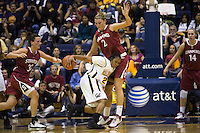 BERKELEY, CA - JANUARY 18:  Jayne Appel of the Stanford Cardinal during Stanford's 57-54 loss to the California Golden Bears on January 18, 2009 at Haas Pavilion in Berkeley, California. Jillian Harmon is on the left.