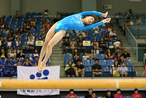 Asuka Teramoto, JULY 6, 2014 - Artistic Gymnastics : The 68th All Japan Artistic Gymnastics Apparatus Championship, Women's Balance Beam at Chiba Port Arena, Chiba, Japan. (Photo by Yohei Osada/AFLO SPORT)