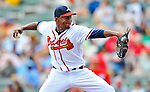 6 March 2012: Atlanta Braves pitcher Cristhian Martinez on the mound during a Spring Training game against the Washington Nationals at Champion Park in Disney's Wide World of Sports Complex, Orlando, Florida. The Nationals defeated the Braves 5-2 in Grapefruit League action. Mandatory Credit: Ed Wolfstein Photo