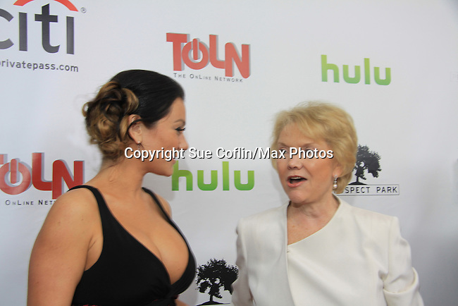 "One Life To Live's Jenni Farley - ""JWOWW"" & Erika Slezak on the Red Carpet at New York Premiere Event for beloved series ""One Life To Live"" on April 23, 2013 at NYU Skirball, New York City, New York - as The Online Network (TOLN) - OLTL - AMC begin airing on April 29, 2013 on Hulu and Hulu Plus.  (Photo by Sue Coflin/Max Photos)"
