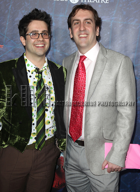 Chase Brock and Rob Berman .attending the Opening Night Performance of 'Spider-Man Turn Off The Dark' at the Foxwoods Theatre in New York City.