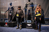 New York City, NY. 10 October 2014. Childs dress up as Batmans take part during the 2014 New York Comic Con fair at the Jacob Javits Center. Photo by Kena Betancur/VIEWpress