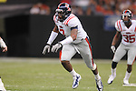 Ole Miss defensive end Wayne Dorsey (7) at the Louisiana Superdome in New Orleans, La. on Saturday, September 11, 2010. Ole Miss won 27-13.