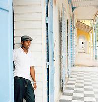 Local man at a hotel, Port-Au-Prince, Haiti