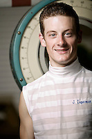 Frenchman and apprentice jockey Julien Leparoux poses for the photographer at the Saratoga race track in Saratoga Spring, USA, 14 August 2006.
