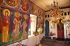 Interior with frescos of the  Agios Symios, kea, Greek Cyclades Island