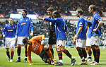 Francesco Sandaza outnumbered six to one as tempers flare
