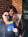 """Vikki Thompson poses with Naomi C. Walley who stars in The Bodyguard The Musical as """"Nicki Marron"""" on March 4, 2017 at the Hippodrome Theatre in Baltimore, Maryland. Check www.thebodyguardthemusical.com for future performance dates. (Photo by Sue Coflin/Max Photos)"""