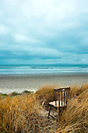 Abandoned Wooden Chair on Bull Island, Dublin.<br />