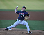 Ole Miss' Bobby Wahl pitches vs. LSU in Oxford, Miss. on Friday, May 4, 2012. LSU won 4-3 in 13 innings.