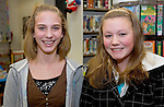 MORRIS, CT- 05 JANUARY 2008 --010509JS05-Teen Advisory Council members Jenna Slver and Robin Morris during their meeting Monday at the Morris Public Library.  <br /> Jim Shannon / Republican-American